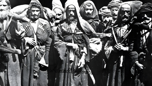 Abkhazians who took part in the 1866 Lykhny uprising. Photo by D. I. Yermakov (1867)